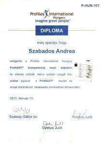 SZA PXT diploma