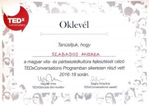 TEDxConversations oklevél